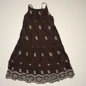 2/$50 Gap brown floral sun dress 4 4T